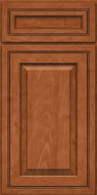 Square Raised Panel - Solid (CRM) Maple in Cinnamon - Base
