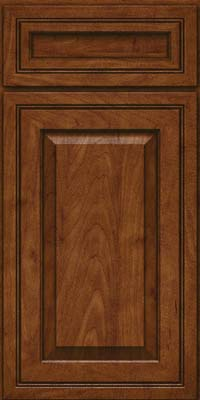 Square Raised Panel - Solid (CRM) Maple in Cognac - Base