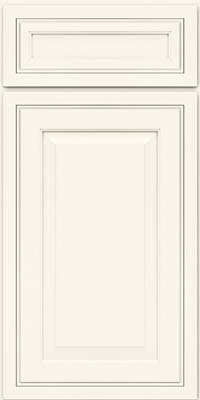Square Raised Panel - Solid (CRM) Maple in Dove White - Base