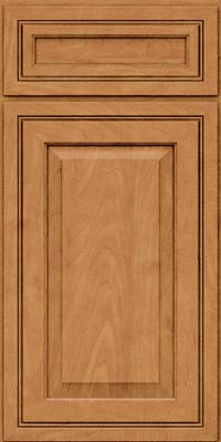 Square Raised Panel - Solid (CRM) Maple in Ginger w/Sable Glaze - Base