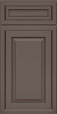 Square Raised Panel - Solid (CRM) Maple in Greyloft w/ Sable Glaze - Base