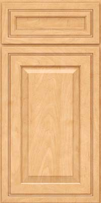 Square Raised Panel - Solid (CRM) Maple in Honey Spice - Base
