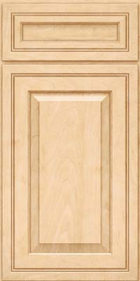 Square Raised Panel - Solid (CRM) Maple in Natural - Base