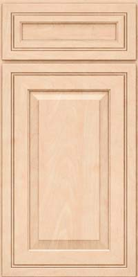 Square Raised Panel - Solid (CRM) Maple in Parchment - Base