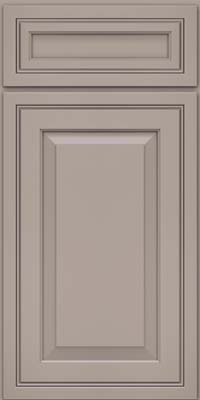 Square Raised Panel - Solid (CRM) Maple in Pebble Grey - Base