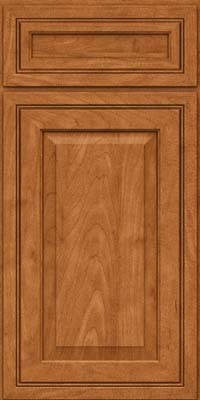 Square Raised Panel - Solid (CRM) Maple in Praline w/Mocha Highlight - Base
