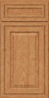 Square Raised Panel - Solid (CRM) Maple in Toffee - Base