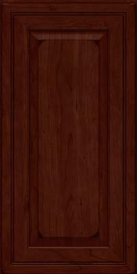 Square Raised Panel - Solid (CRC) Cherry in Burnished Cabernet - Wall