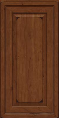Square Raised Panel - Solid (CRC) Cherry in Burnished Chocolate - Wall