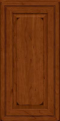Square Raised Panel - Solid (CRC) Cherry in Burnished Cinnamon - Wall