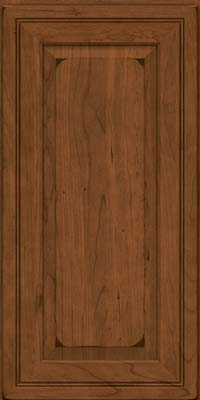 Square Raised Panel - Solid (CRC) Cherry in Burnished Rye - Wall
