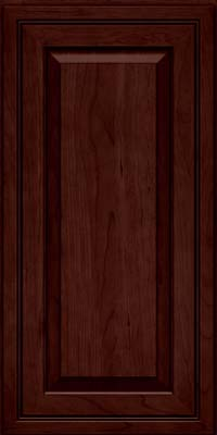 Square Raised Panel - Solid (CRC) Cherry in Cabernet - Wall