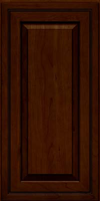 Square Raised Panel - Solid (CRC) Cherry in Chocolate w/Ebony Glaze - Wall