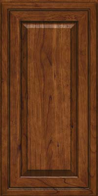 Square Raised Panel - Solid (CRC) Cherry in Cognac - Wall
