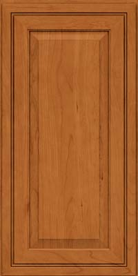 Square Raised Panel - Solid (CRC) Cherry in Honey Spice - Wall