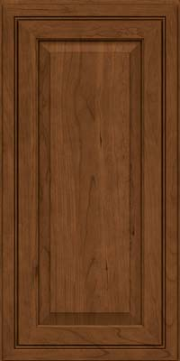 Square Raised Panel - Solid (CRC) Cherry in Rye w/Sable Glaze - Wall