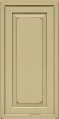 Square Raised Panel - Solid (CRC) Cherry in Vintage Willow - Wall
