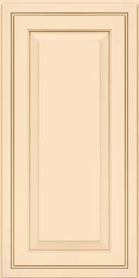 Square Raised Panel - Solid (CRM) Maple in Biscotti w/Cocoa Glaze - Wall