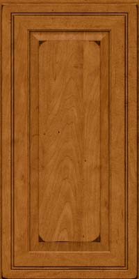 Square Raised Panel - Solid (CRM) Maple in Burnished Golden Lager - Wall