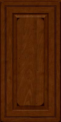 Square Raised Panel - Solid (CRM) Maple in Burnished Chestnut - Wall