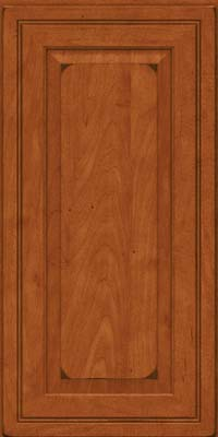 Square Raised Panel - Solid (CRM) Maple in Burnished Cinnamon - Wall