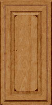 Square Raised Panel - Solid (CRM) Maple in Burnished Ginger - Wall
