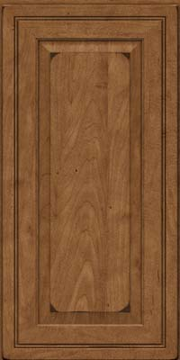 Square Raised Panel - Solid (CRM) Maple in Burnished Rye - Wall