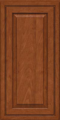 Square Raised Panel - Solid (CRM) Maple in Chestnut - Wall