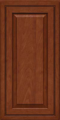 Square Raised Panel - Solid (CRM) Maple in Chestnut w/Onyx Glaze - Wall