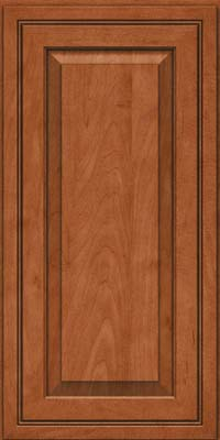 Square Raised Panel - Solid (CRM) Maple in Cinnamon - Wall