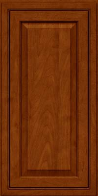 Square Raised Panel - Solid (CRM) Maple in Cinnamon w/Onyx Glaze - Wall