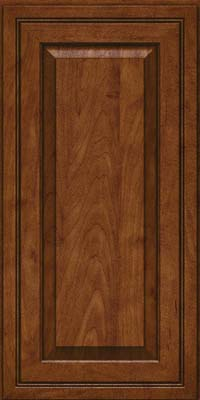 Square Raised Panel - Solid (CRM) Maple in Cognac - Wall
