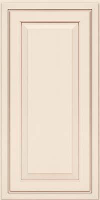Square Raised Panel - Solid (CRM) Maple in Dove White w/Cocoa Glaze - Wall