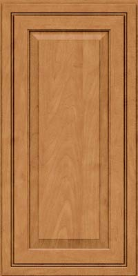 Square Raised Panel - Solid (CRM) Maple in Ginger w/Sable Glaze - Wall