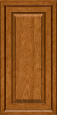Square Raised Panel - Solid (CRM) Maple in Golden Lager - Wall