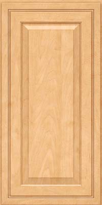 Square Raised Panel - Solid (CRM) Maple in Honey Spice - Wall