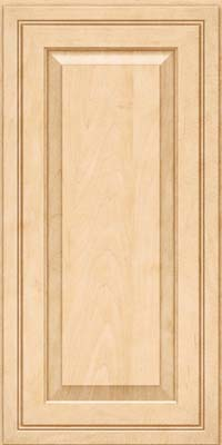 Square Raised Panel - Solid (CRM) Maple in Natural - Wall