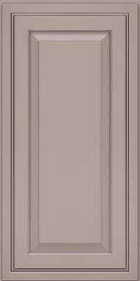 Square Raised Panel - Solid (CRM) Maple in Pebble Grey - Wall