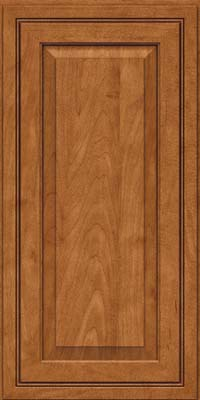 Square Raised Panel - Solid (CRM) Maple in Praline w/Onyx Glaze - Wall