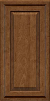 Square Raised Panel - Solid (CRM) Maple in Rye w/Onyx Glaze - Wall