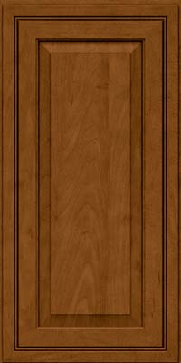 Square Raised Panel - Solid (CRM) Maple in Rye w/Sable Glaze - Wall