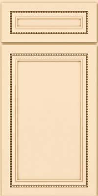 Square Recessed Panel - Veneer (CTM) Maple in Biscotti w/Cocoa Glaze - Base