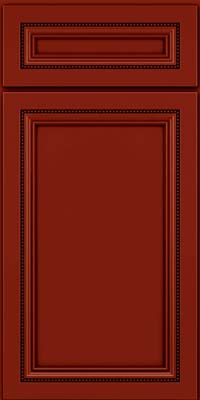 Square Recessed Panel - Veneer (CTM) Maple in Cardinal w/Onyx Glaze - Base