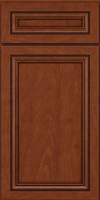 Square Recessed Panel - Veneer (CTM) Maple in Chestnut w/Onyx Glaze - Base