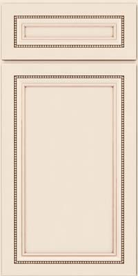 Square Recessed Panel - Veneer (CTM) Maple in Dove White w/Cocoa Glaze - Base