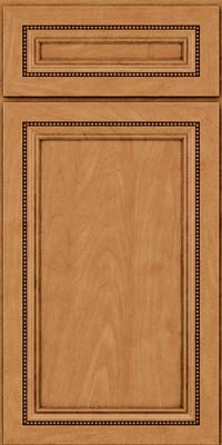 Square Recessed Panel - Veneer (CTM) Maple in Ginger w/Sable Glaze - Base
