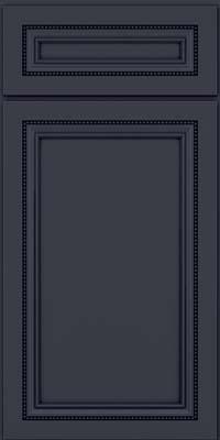Square Recessed Panel - Veneer (CTM) Maple in Midnight w/ Onyx Glaze - Base