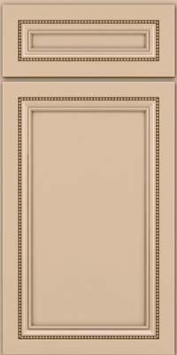 Square Recessed Panel - Veneer (CTM) Maple in Mushroom w/Cocoa Glaze - Base