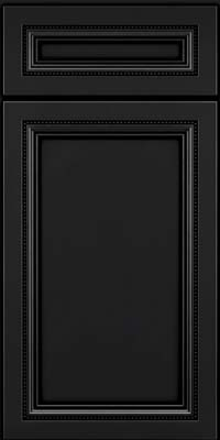 Square Recessed Panel - Veneer (CTM) Maple in Onyx - Base