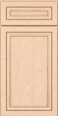 Square Recessed Panel - Veneer (CTM) Maple in Parchment - Base
